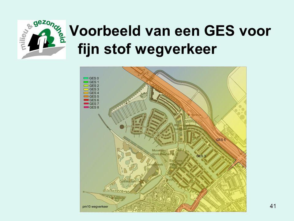 Luchtkwaliteit in Zwolle41 Voorbeeld van een GES voor fijn stof wegverkeer