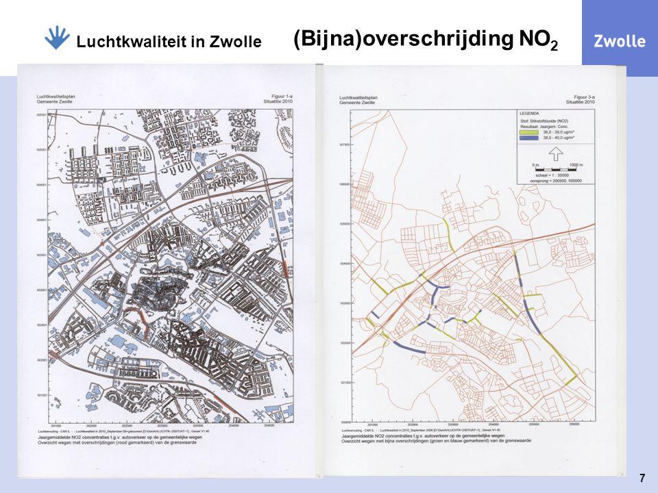 7 Luchtkwaliteit in Zwolle (Bijna)overschrijding NO 2