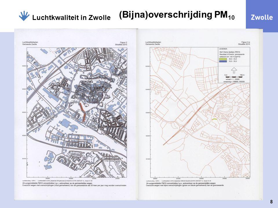 8 Luchtkwaliteit in Zwolle (Bijna)overschrijding PM 10