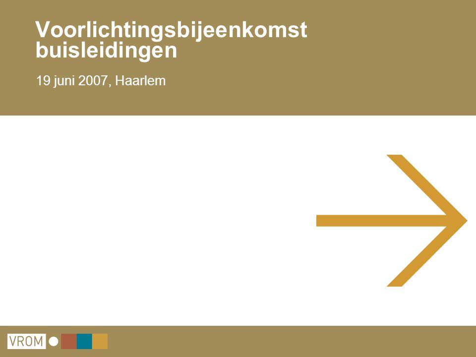 Voorlichtingsbijeenkomst buisleidingen 19 juni 2007, Haarlem