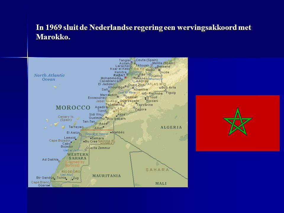 In 1969 sluit de Nederlandse regering een wervingsakkoord met Marokko.
