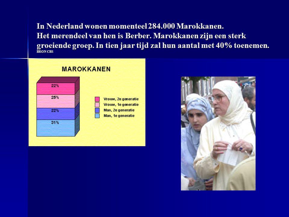 In Nederland wonen momenteel 284.000 Marokkanen. Het merendeel van hen is Berber.