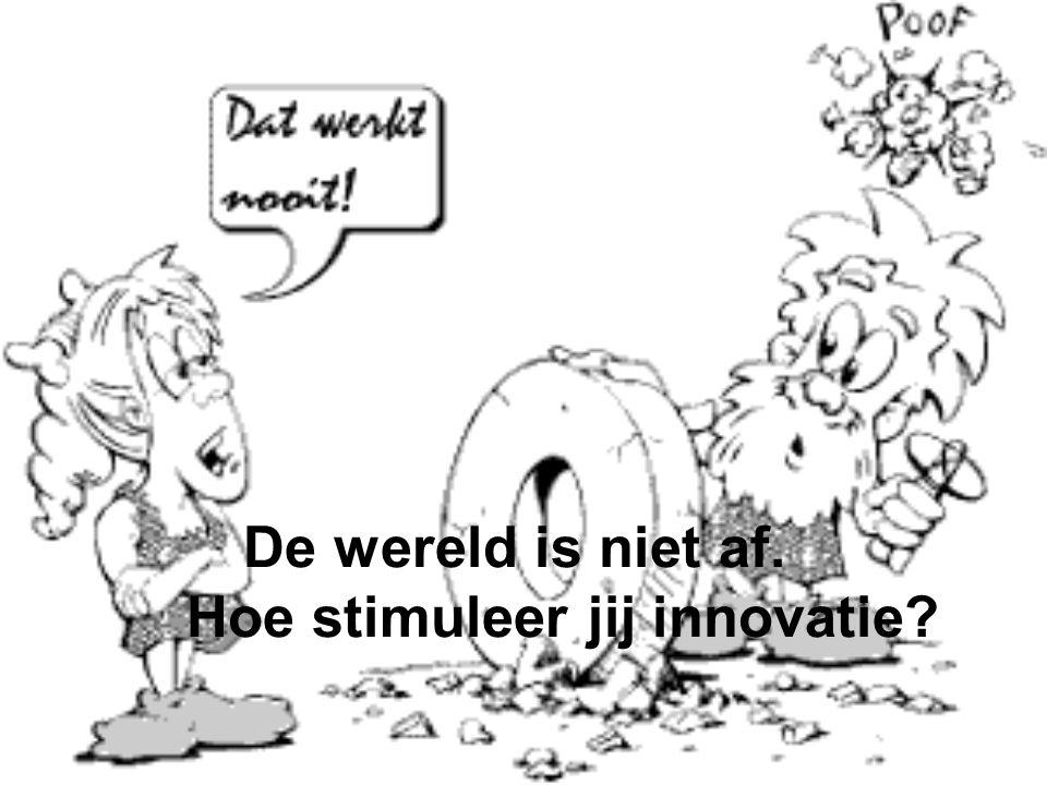 De wereld is niet af. Hoe stimuleer jij innovatie?