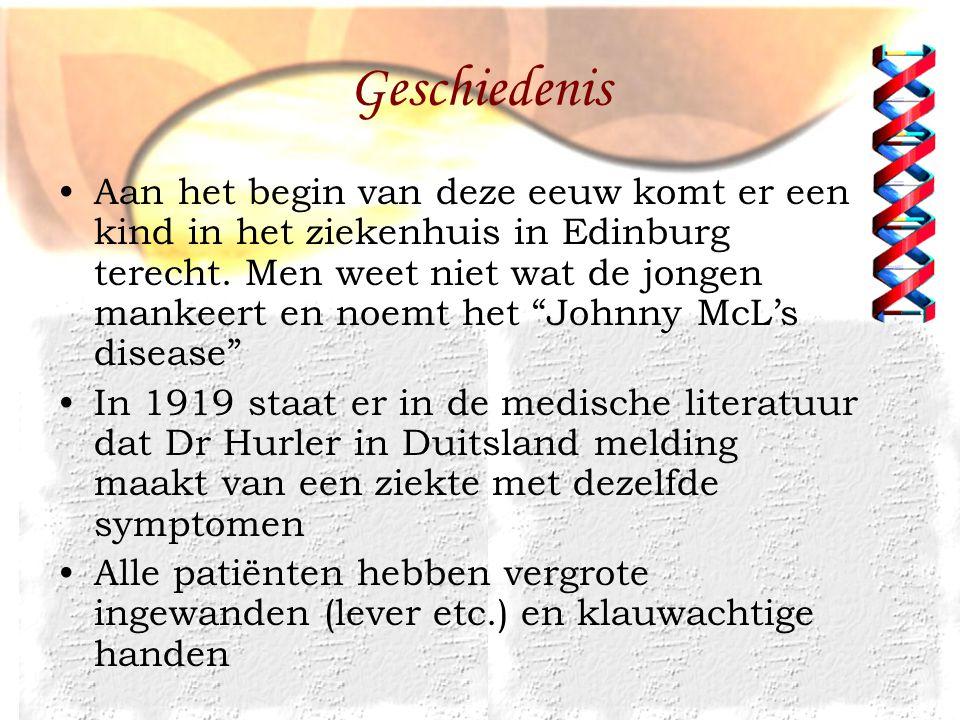 Geschiedenis 1952 men ontdekt dat de ziekte te maken heeft met Mucopolysacchariden, de term muccopolysaccharidoses (MPS) wordt voor het eerst gebruikt 1963 Dr Sylvester Sanfilippo onderscheidt een aparte ziekte binnen MPS 1973 binnen het syndroom van Sanfilippo wordt onderscheid gemaakt tussen verschillende typen (A, B)