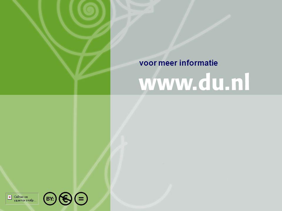 Titel auteur oktober 2004 17/10 voor meer informatie
