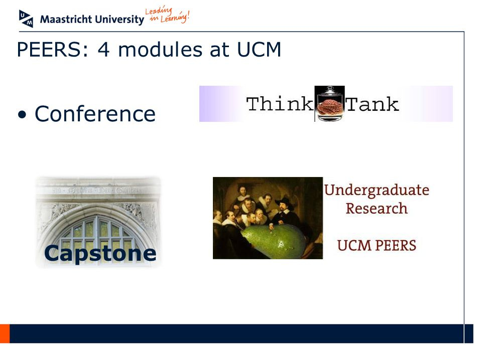 PEERS: 4 modules at UCM Conference Capstone