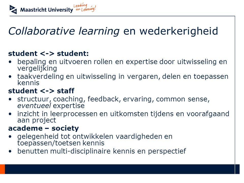 Aan de slag – collaborative learning.