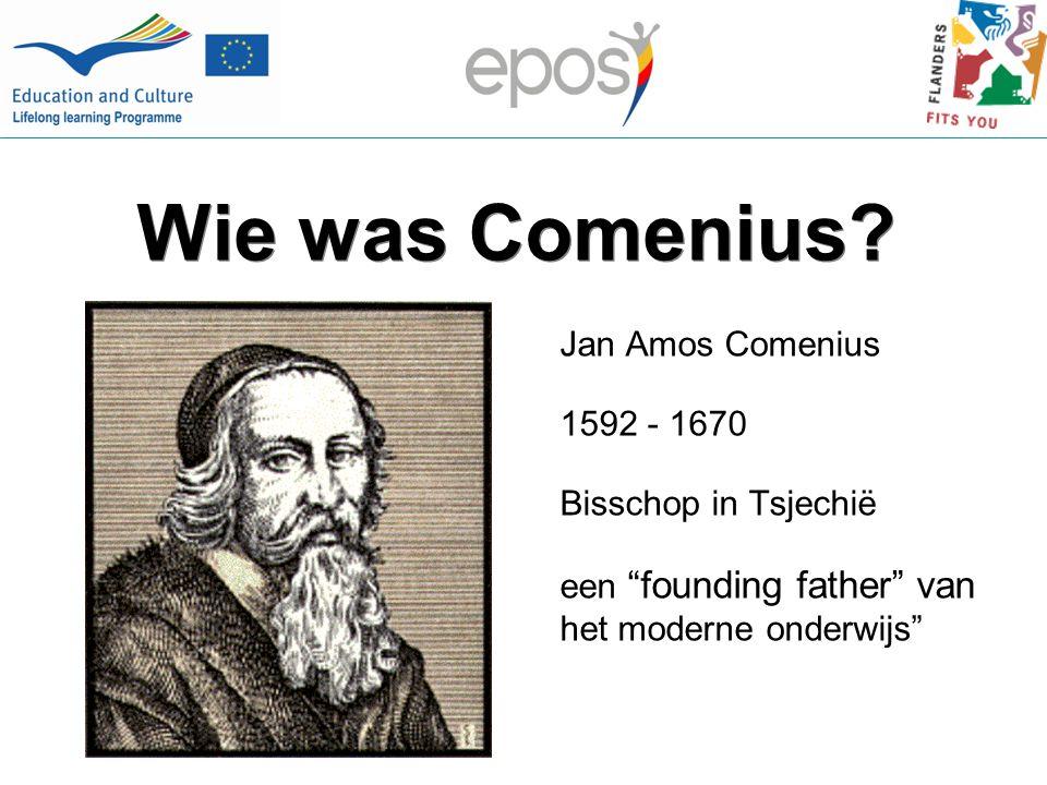 Comenius – Algemene doelstellingen Bij jongeren en onderwijspersoneel de kennis en het begrip ontwikkelen over de culturele en taalkundige diversiteit in Europa en de waarde daarvan Jongeren de vaardigheden en competenties bijbrengen die nodig zijn voor persoonlijke ontwikkeling, toekomstige tewerkstelling en actief Europees burgerschap
