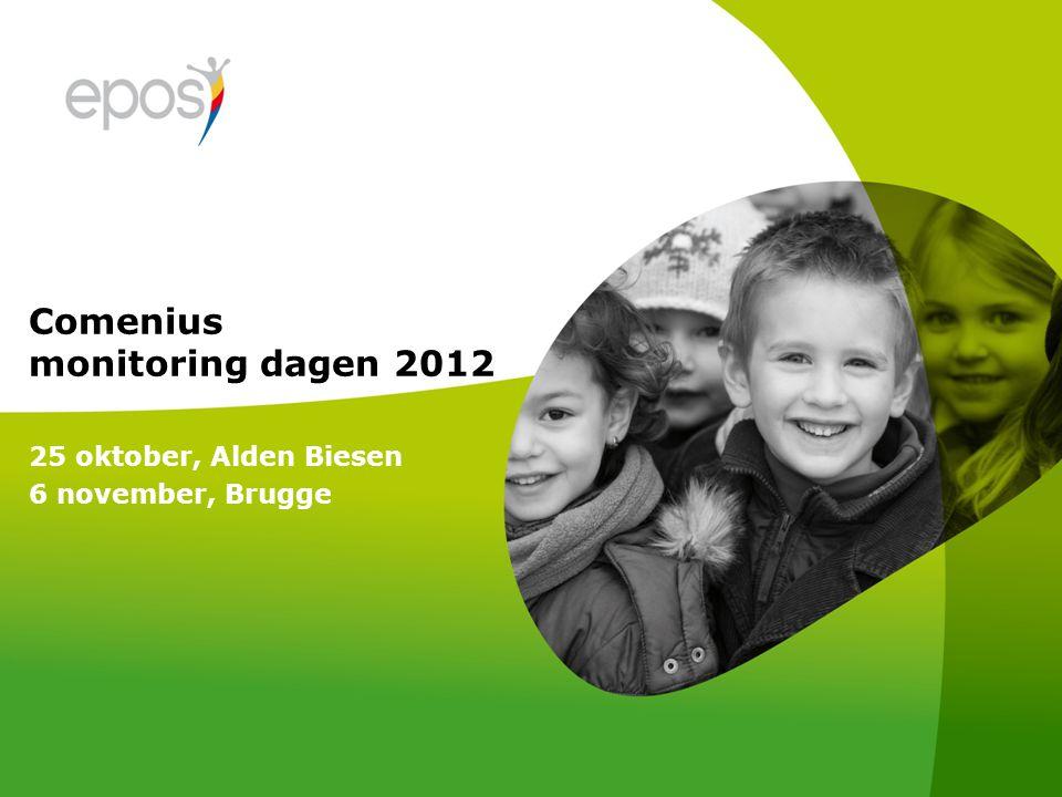 Comenius monitoring dagen 2012 25 oktober, Alden Biesen 6 november, Brugge