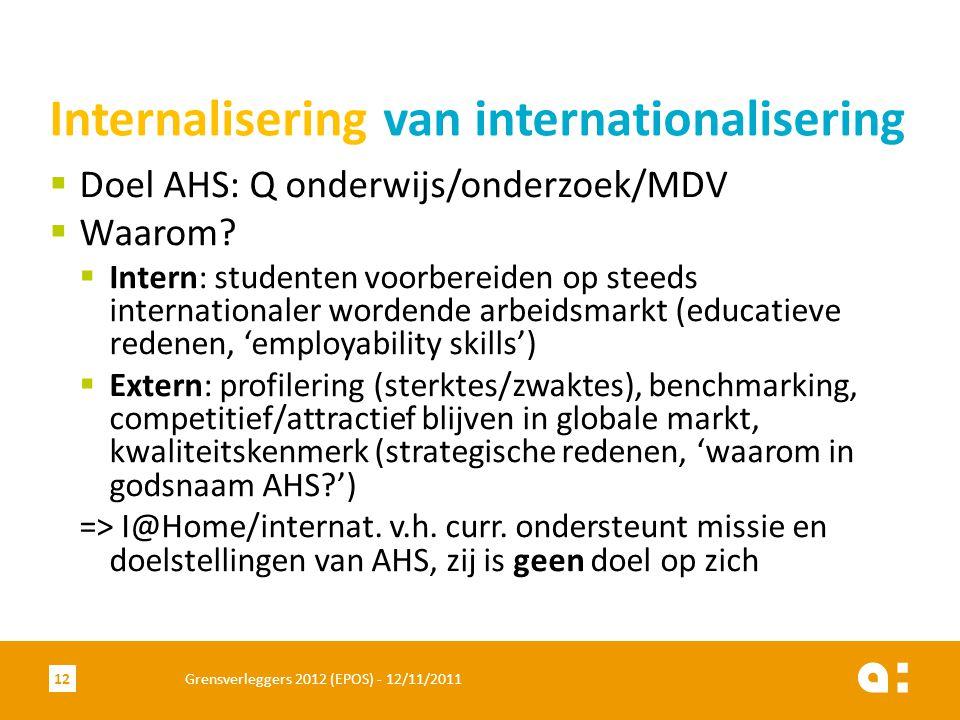  Doel AHS: Q onderwijs/onderzoek/MDV  Waarom.