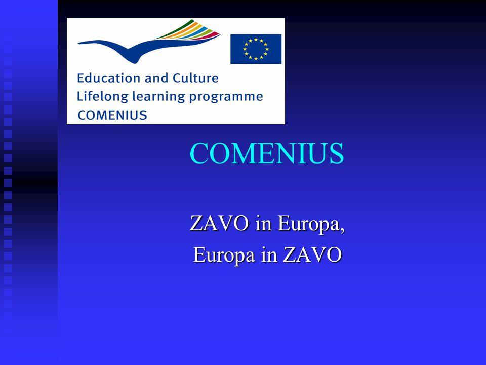 COMENIUS ZAVO in Europa, Europa in ZAVO
