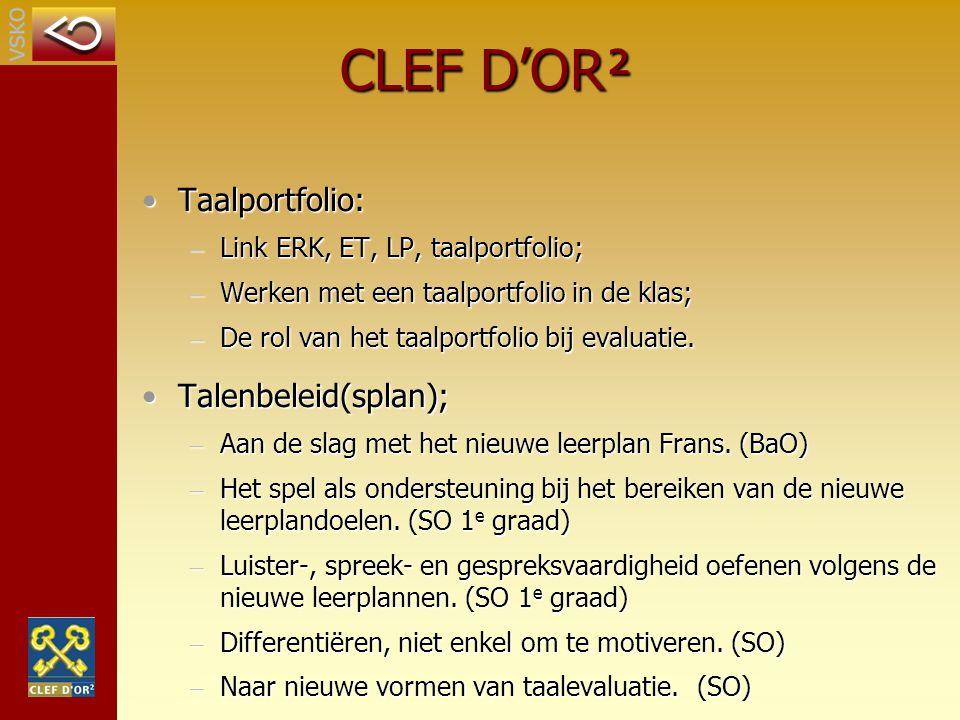 Taalportfolio:Taalportfolio: – Link ERK, ET, LP, taalportfolio; – Werken met een taalportfolio in de klas; – De rol van het taalportfolio bij evaluati