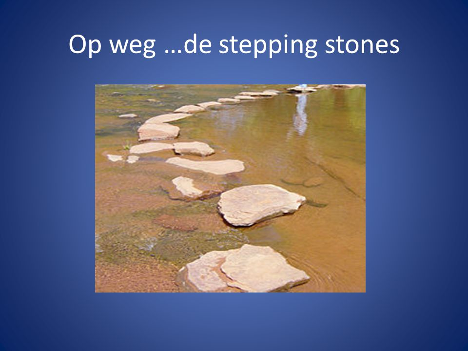 Op weg …de stepping stones