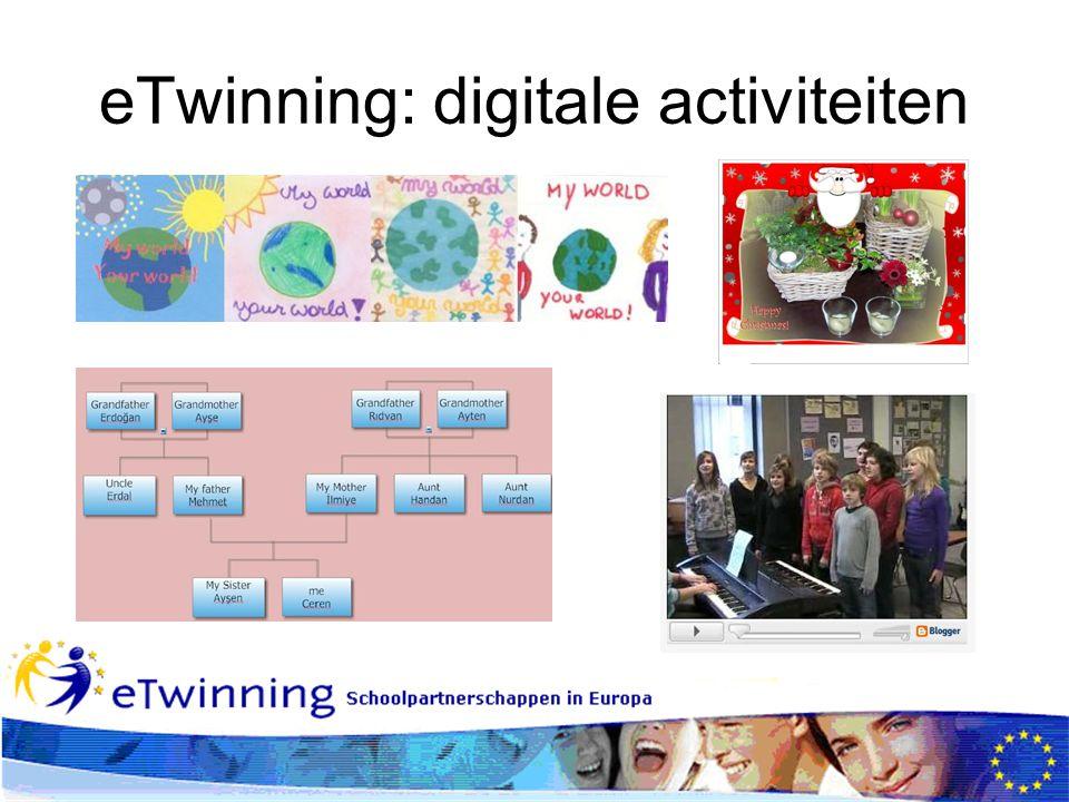 eTwinning: digitale activiteiten