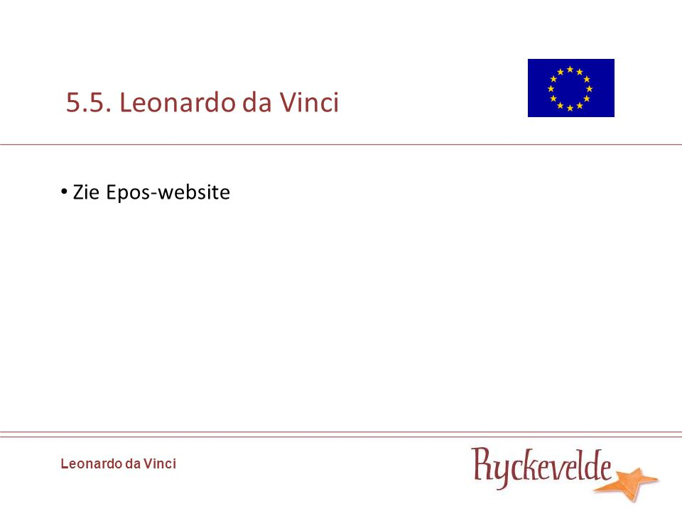 5.5. Leonardo da Vinci Zie Epos-website Leonardo da Vinci