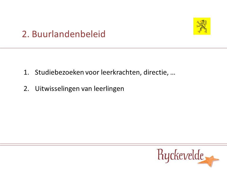 2.Buurlandenbeleid - studiebezoeken Wat. studiebezoek Duur.