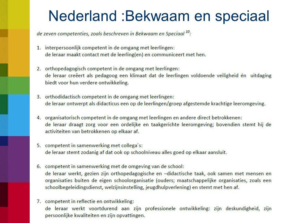 Nederland :Bekwaam en speciaal