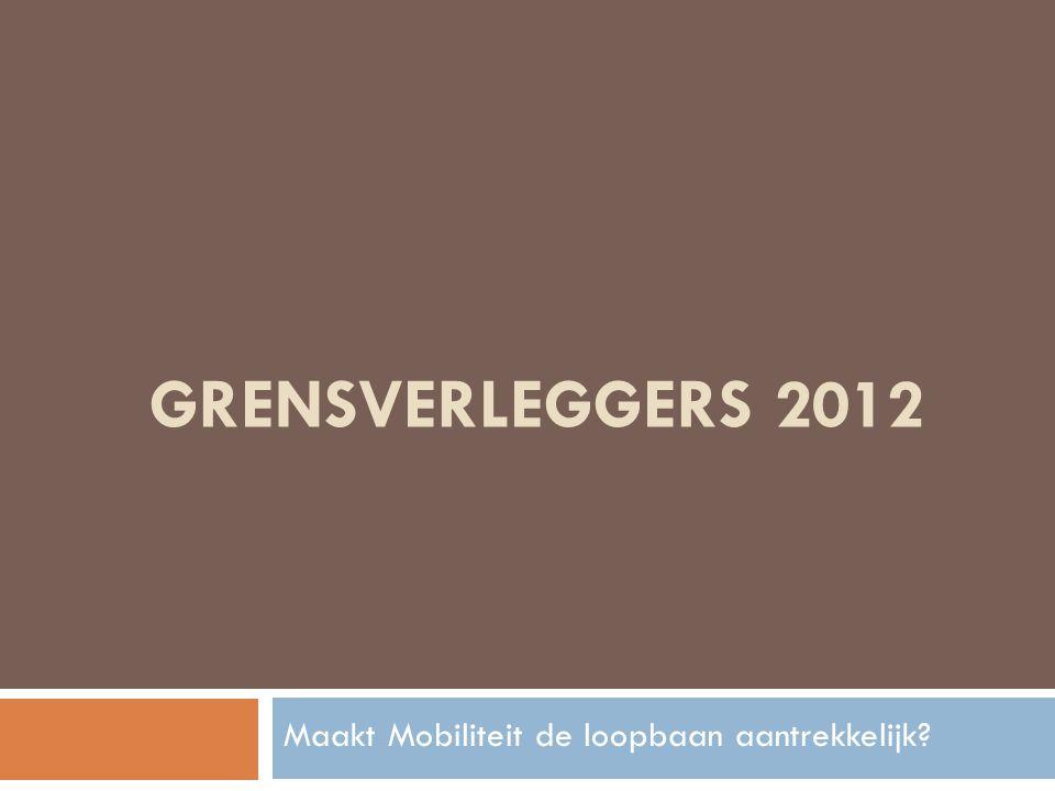 GRENSVERLEGGERS 2012 Maakt Mobiliteit de loopbaan aantrekkelijk