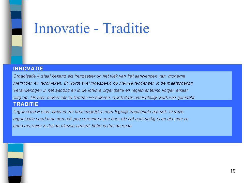 19 Innovatie - Traditie