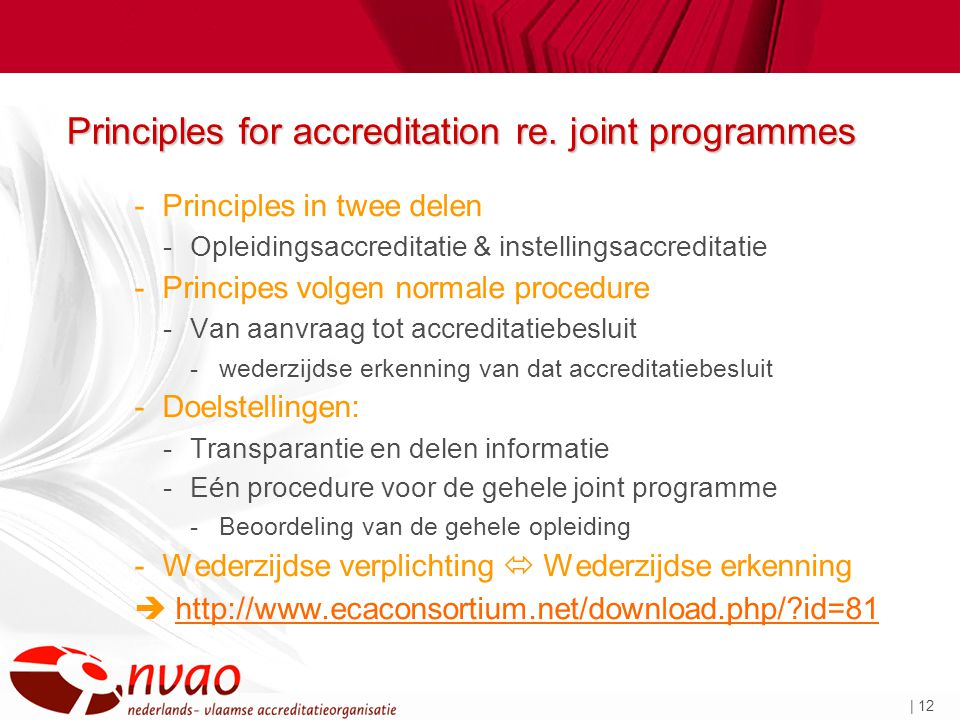 | 12 Principles for accreditation re.