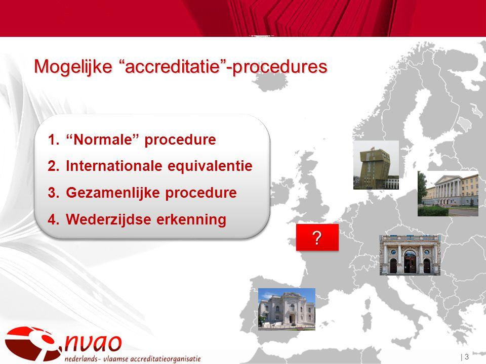 | 3 Mogelijke accreditatie -procedures ?.
