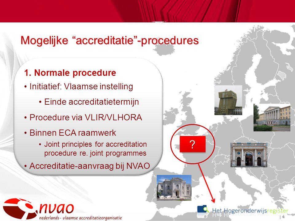 | 4 Mogelijke accreditatie -procedures ?.1.