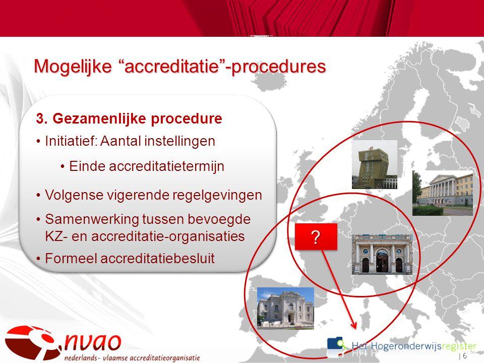 | 6 Mogelijke accreditatie -procedures ?.3.