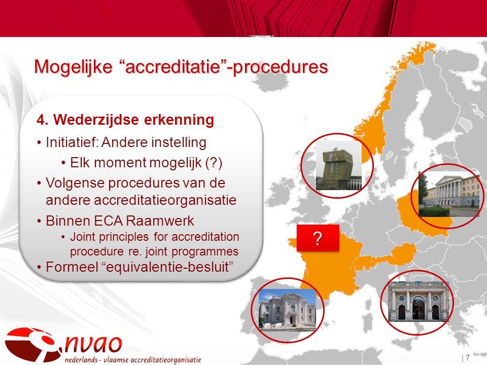 | 7 Mogelijke accreditatie -procedures ?.4.