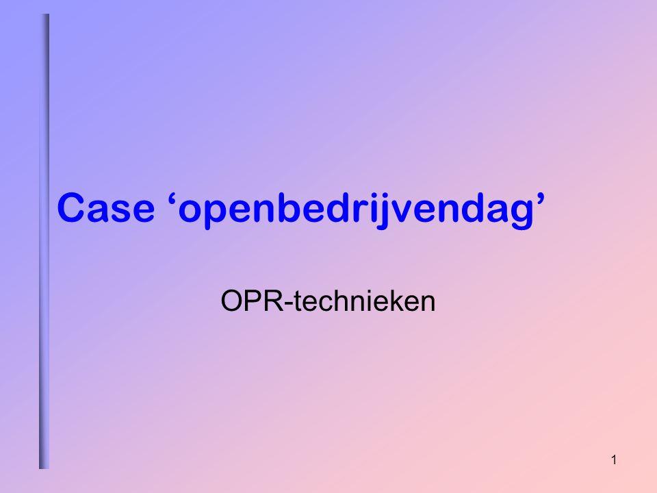 1 Case 'openbedrijvendag' OPR-technieken