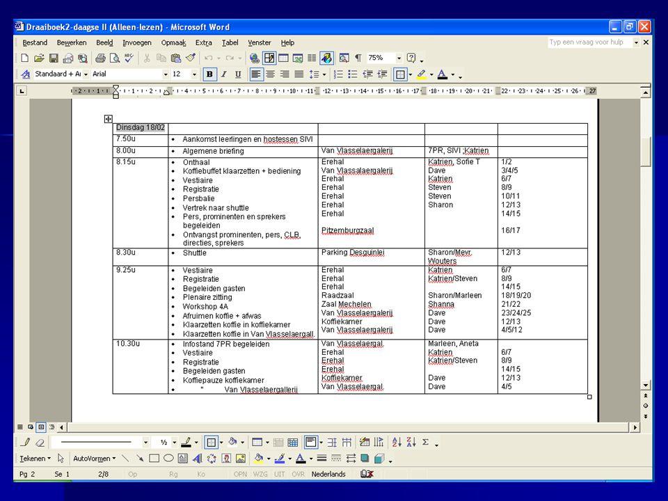 Prijslijst en orderboekje Prijslijst: Prijslijst: –Zoals programmafolder Orderboekje: Orderboekje: –Word: gebaseerd op etiketten –Publisher: gebaseerd op folderindeling