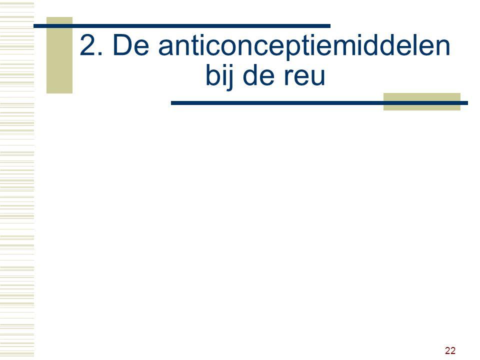 22 2. De anticonceptiemiddelen bij de reu