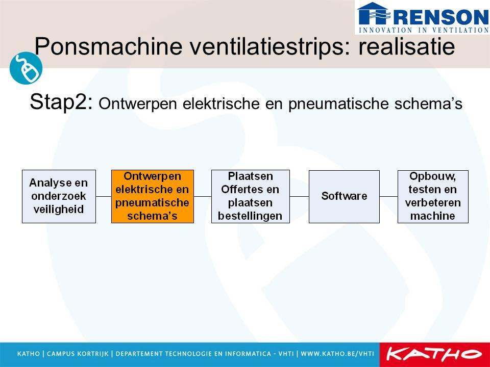 Ponsmachine ventilatiestrips: realisatie Stap2: Ontwerpen elektrische en pneumatische schema's