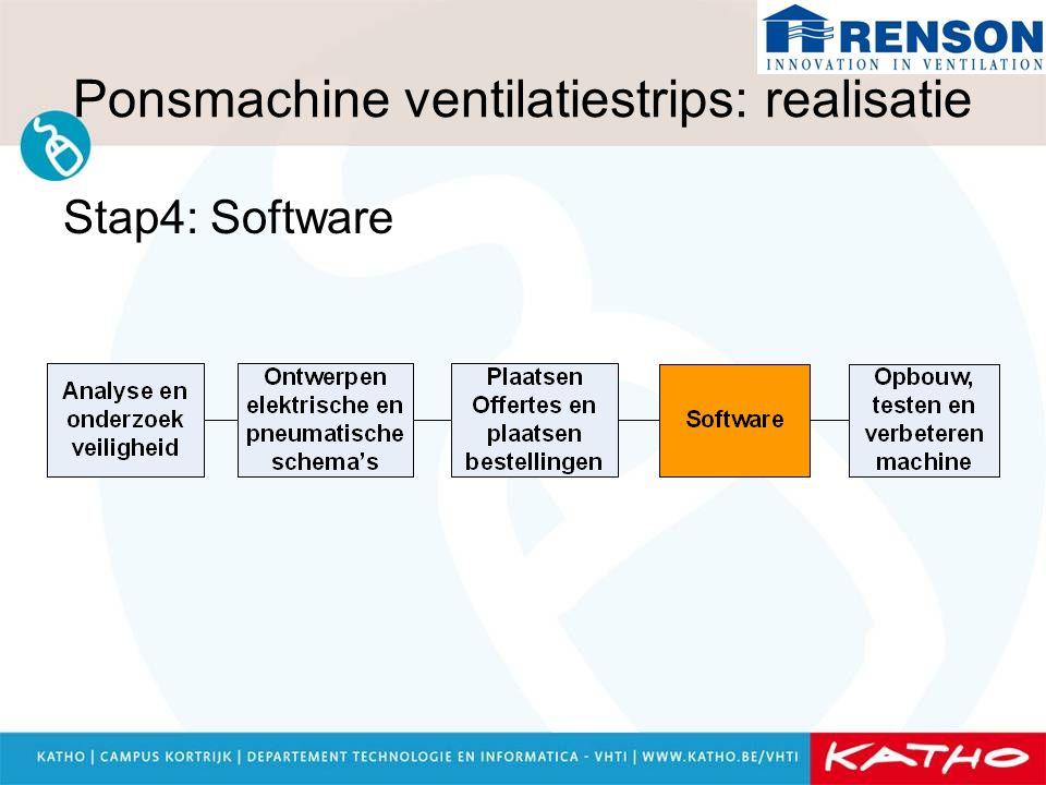 Ponsmachine ventilatiestrips: realisatie Stap4: Software