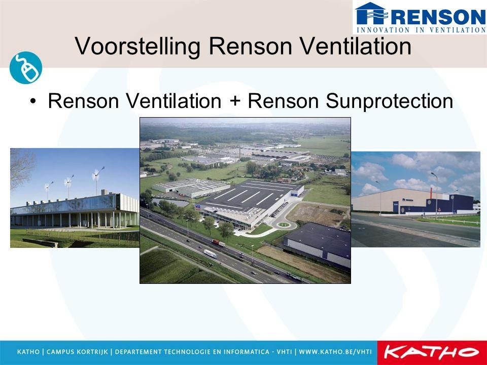 Renson Ventilation + Renson Sunprotection