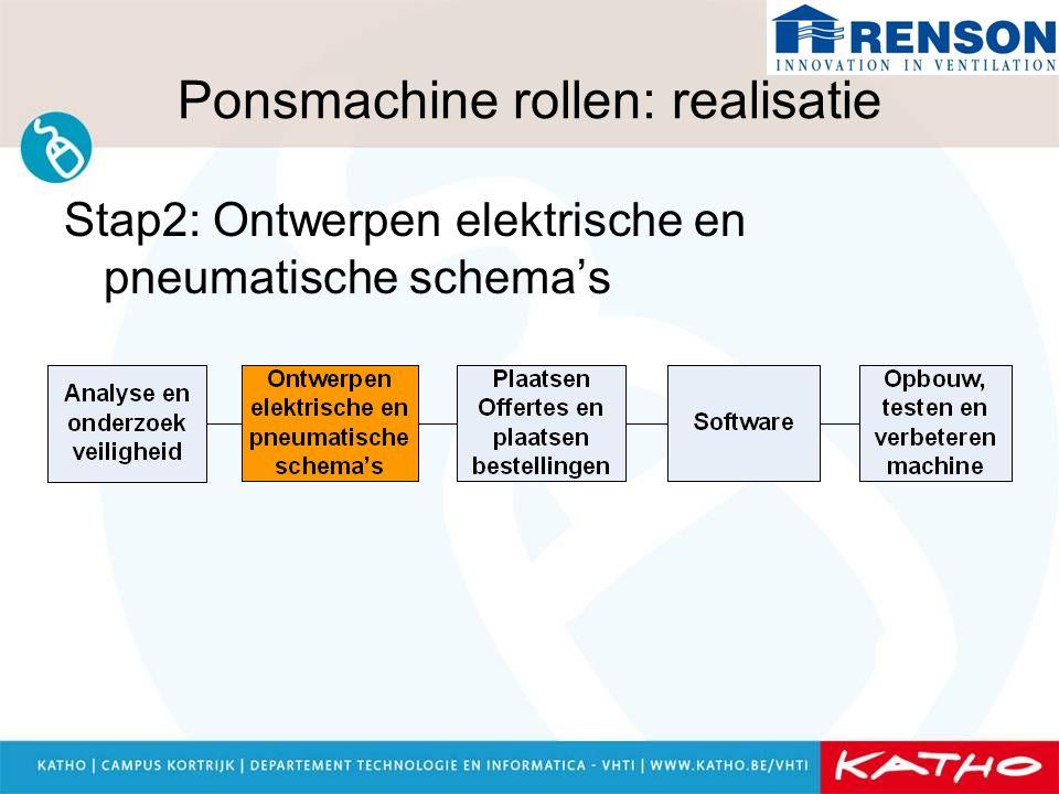 Ponsmachine rollen: realisatie Stap2: Ontwerpen elektrische en pneumatische schema's