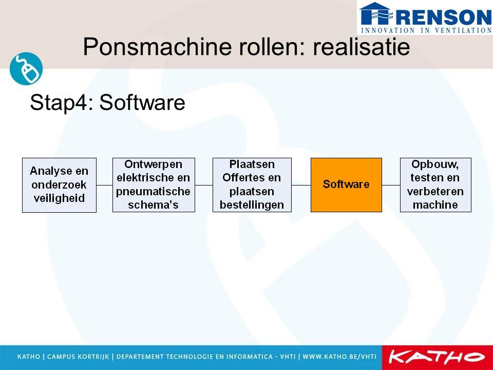 Ponsmachine rollen: realisatie Stap4: Software