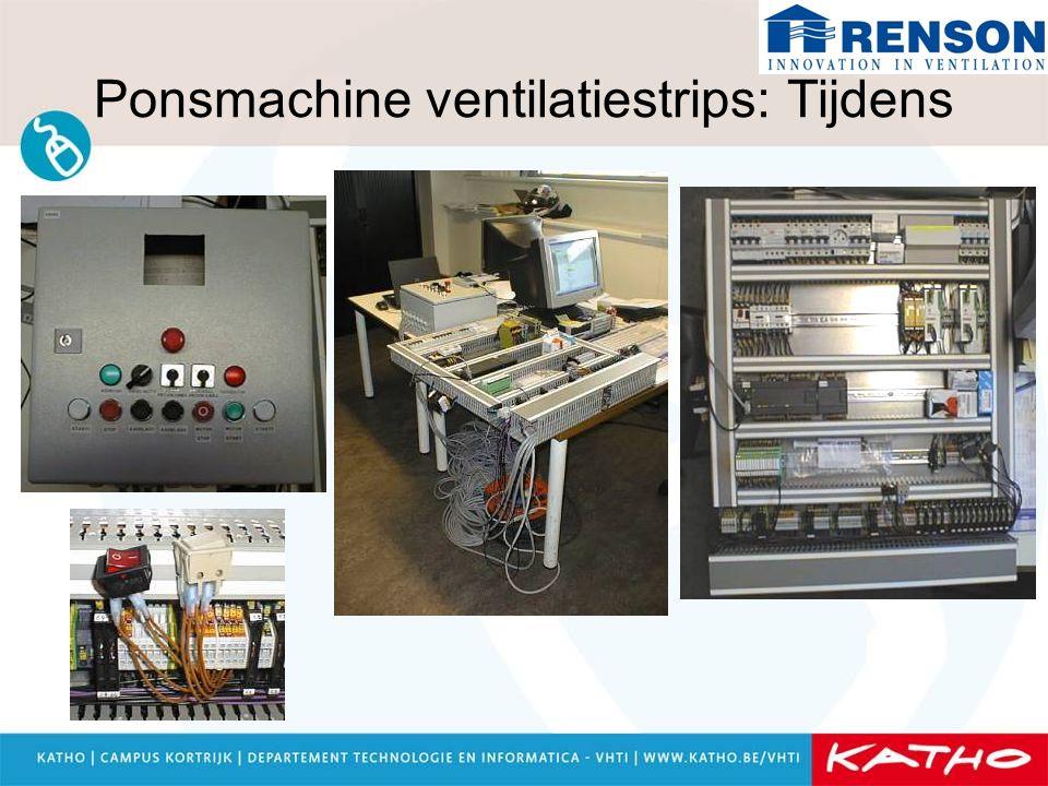 Ponsmachine ventilatiestrips: Resultaat Machine zelf