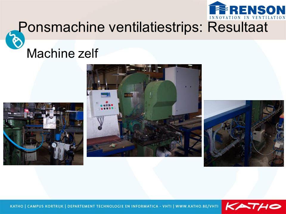 Ponsmachine ventilatiestrips: Resultaat Stuurkast
