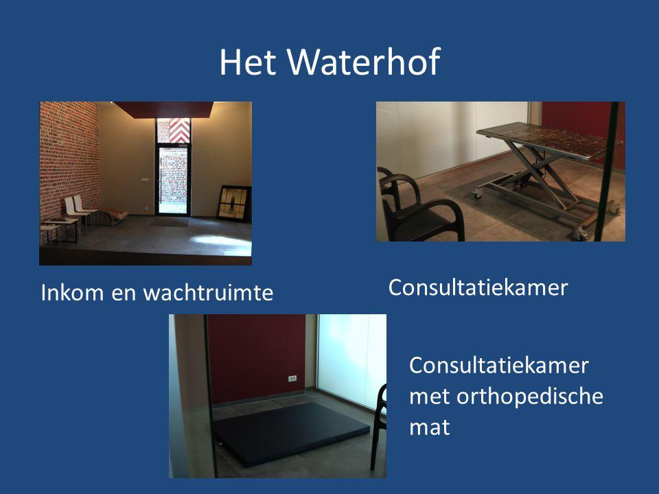 Het Waterhof Inkom en wachtruimte Consultatiekamer Consultatiekamer met orthopedische mat