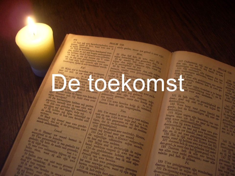 Liturgie Gz. 32 L. Openb. 21: 1 t/m 22: 5 Ps. 90: 1,3 en 8 T. Openb. 22: 5 Gz. 179a Collecte Gz. 147 De toekomst