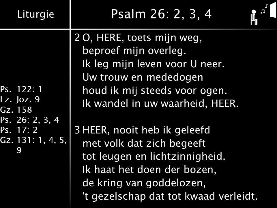 Liturgie Ps.122: 1 Lz.Joz.