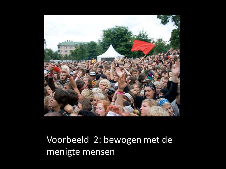 Voorbeeld 2: bewogen met de menigte mensen