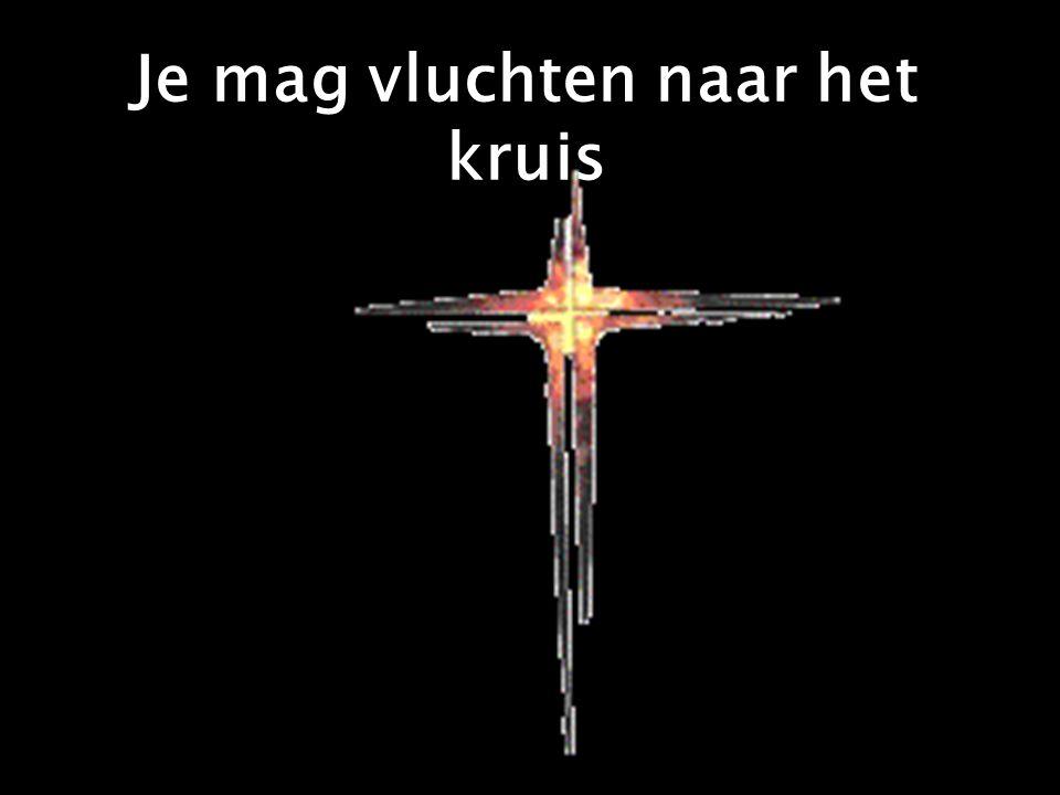 Je mag vluchten naar het kruis