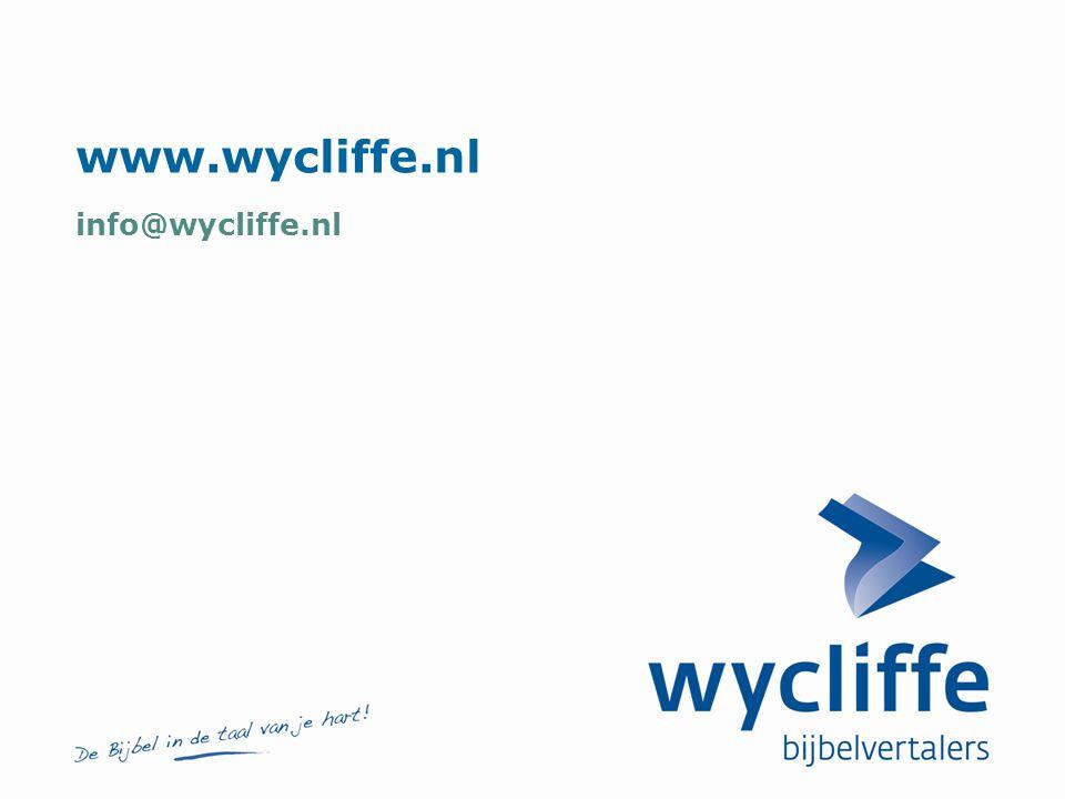 www.wycliffe.nl info@wycliffe.nl