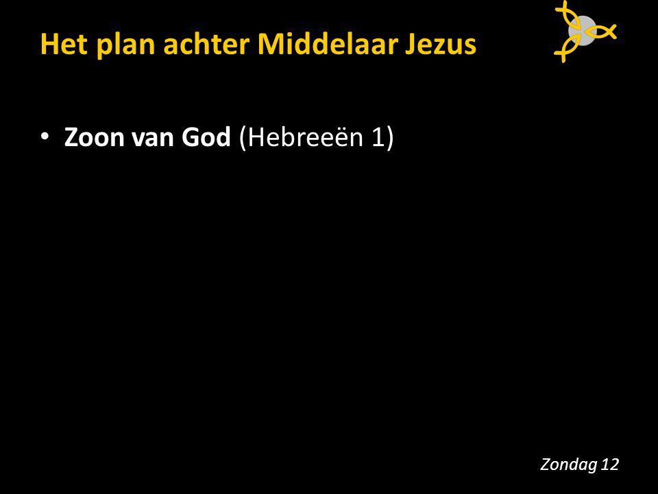 Het plan achter Middelaar Jezus Zoon van God (Hebreeën 1) Zondag 12