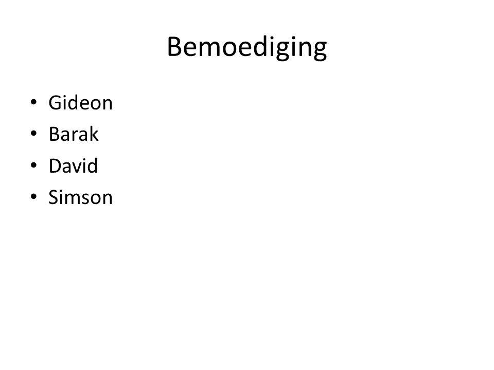 Bemoediging Gideon Barak David Simson
