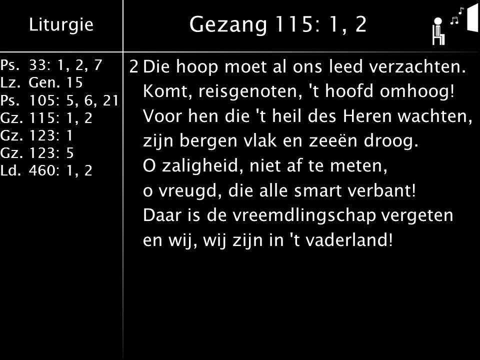 Liturgie Ps.33: 1, 2, 7 Lz.Gen.