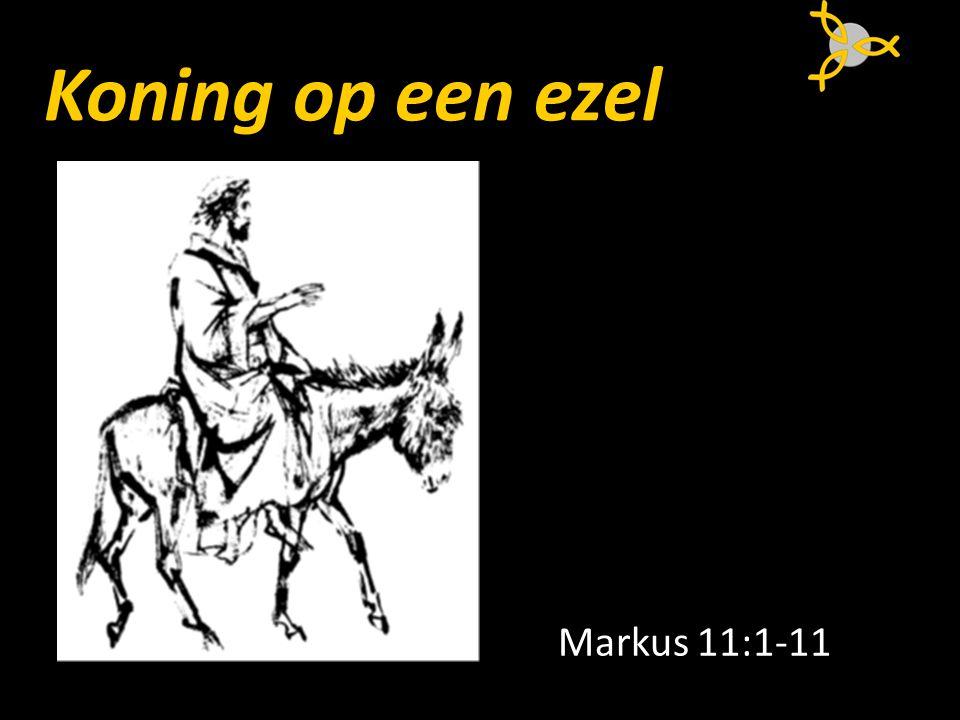 Koning op een ezel Markus 11:1-11