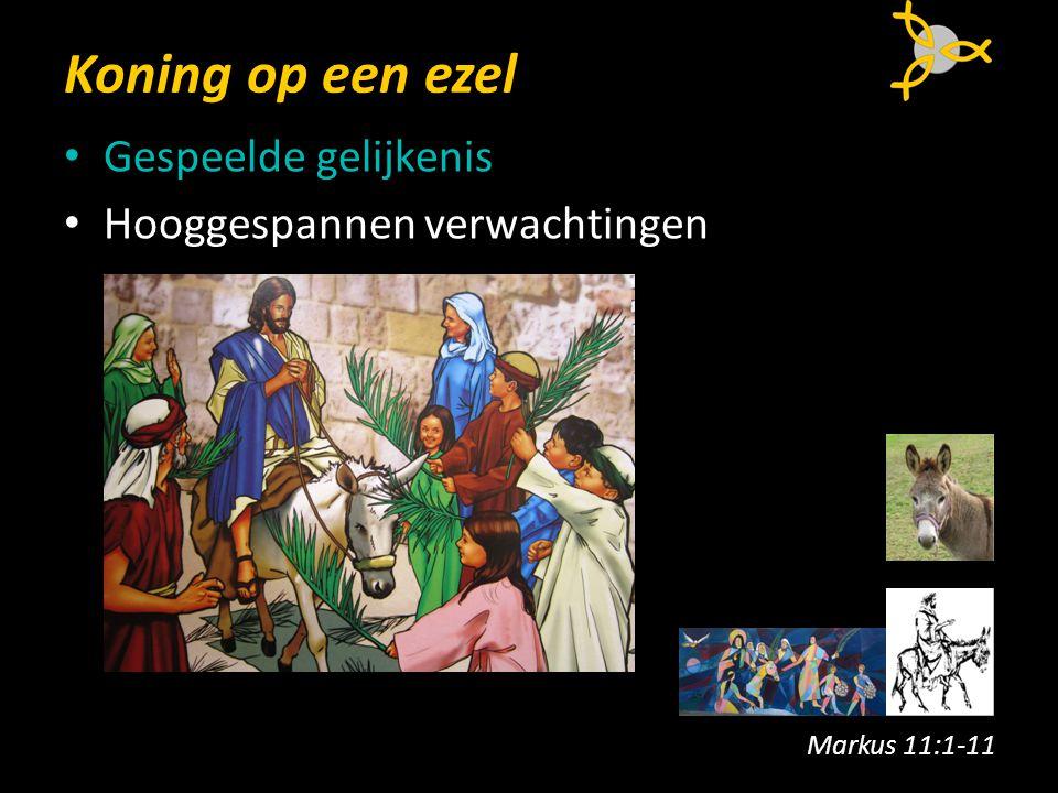 Koning op een ezel Gespeelde gelijkenis Hooggespannen verwachtingen Markus 11:1-11