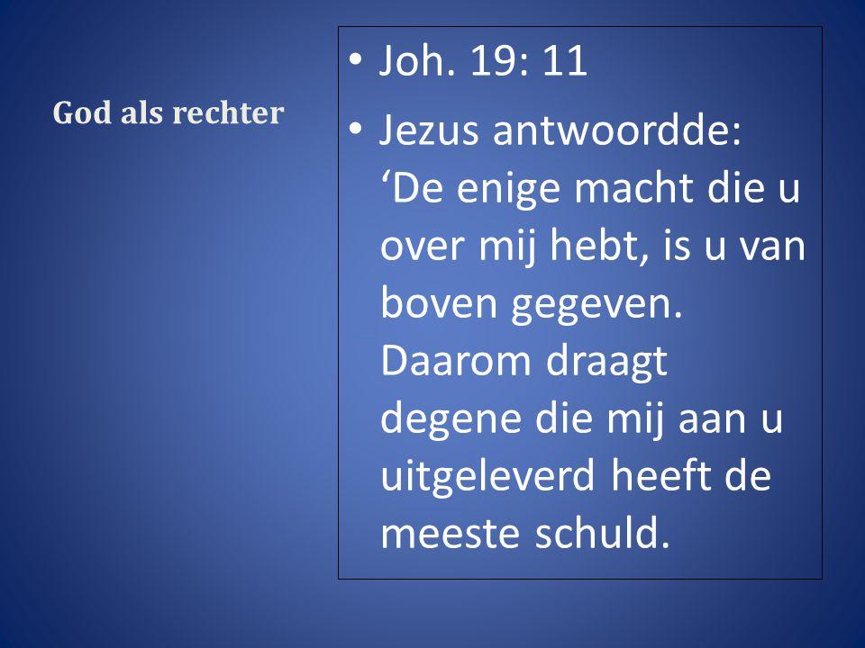 God als rechter Joh.